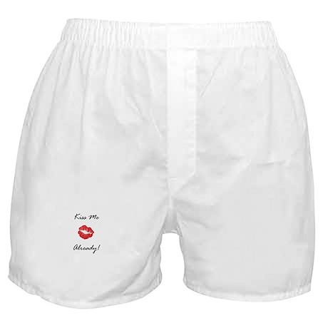 Kiss Me Already Boxer Shorts