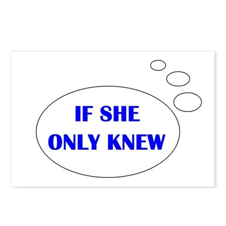 IF SHE ONLY KNEW Postcards (Package of 8)