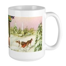 Vintage Christmas Mailboxes Mugs