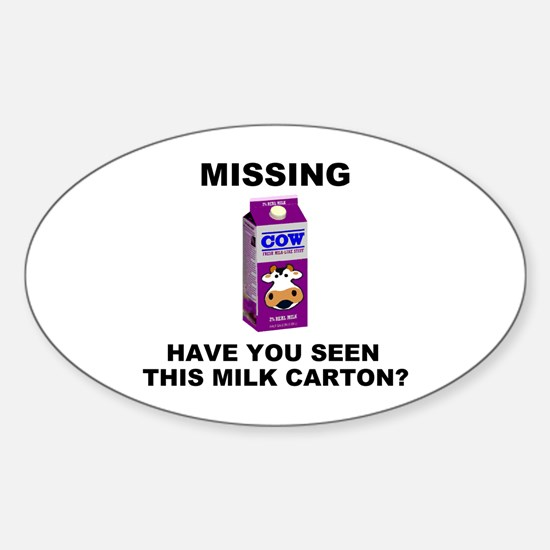 Missing! Oval Decal