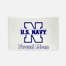 Proud Navy Mom Rectangle Magnet (10 pack)