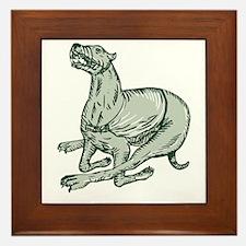 Greyhound Dog Racing Side Etching Framed Tile