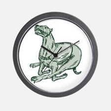 Greyhound Dog Racing Side Etching Wall Clock