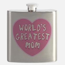 Worlds Greatest Mom Flask