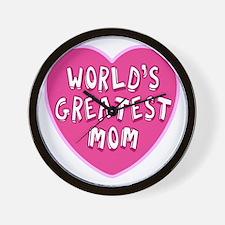 Worlds Greatest Mom Wall Clock
