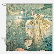 art nouveau shower curtains | art nouveau fabric shower curtain liner