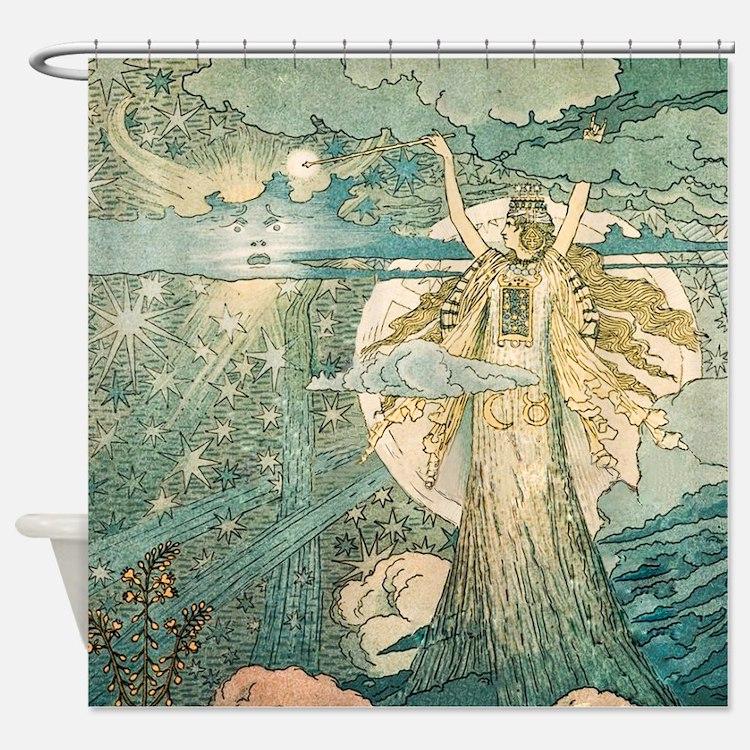 Art Nouveau Shower Curtains