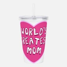 Worlds Greatest Mom Acrylic Double-wall Tumbler