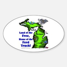 MI-Ford Truck! Oval Decal