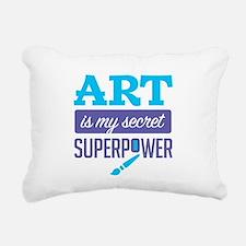 Art is My Secret Superpower Rectangular Canvas Pil