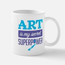 Art is My Secret Superpower Mugs