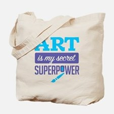 Art is My Secret Superpower Tote Bag