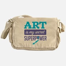 Art is My Secret Superpower Messenger Bag
