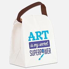 Art is My Secret Superpower Canvas Lunch Bag