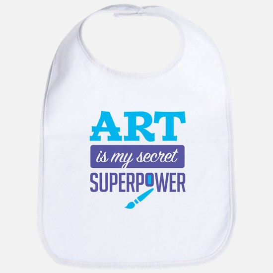 Art is My Secret Superpower Bib