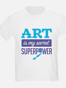 Art is My Secret Superpower T-Shirt