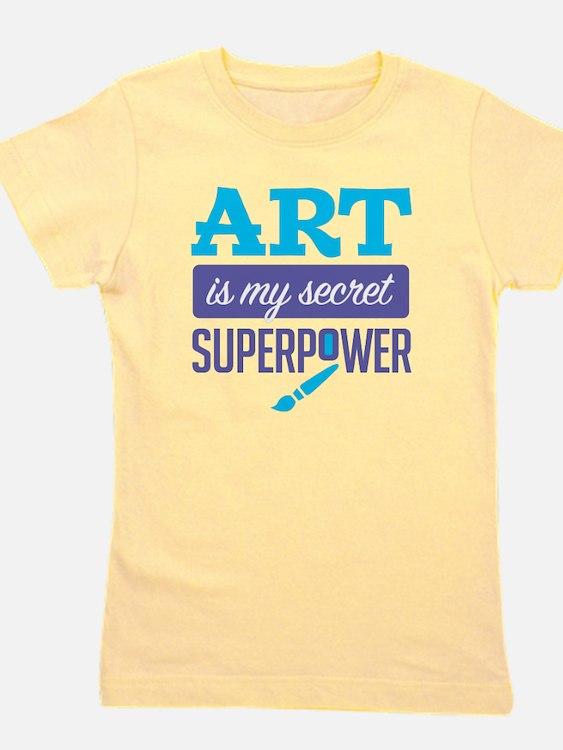 Art is My Secret Superpower Girl's Tee