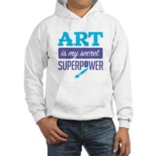 Art is My Secret Superpower Hoodie