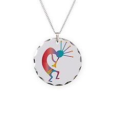 Kokopelli, Native American Necklace Circle Charm