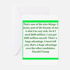 donald trump quote Greeting Cards