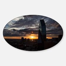 Unique Dallas downtown Sticker (Oval)