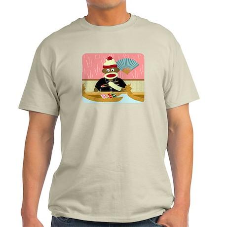 Sock Monkey Sushi Boat Light T-Shirt