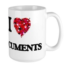 I love Documents Mugs