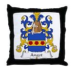 Angot Family Crest  Throw Pillow