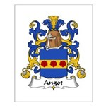 Angot Family Crest  Small Poster