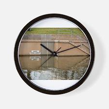 Danger Strong Current Wall Clock