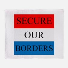 Secure Our Borders Throw Blanket