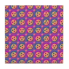 Gearwheels pattern Tile Coaster
