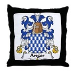 Anger Family Crest Throw Pillow