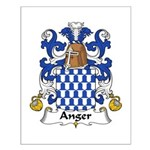 Anger Family Crest Small Poster