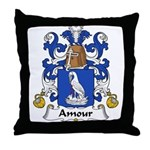 Amour Family Crest  Throw Pillow