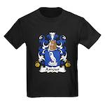 Amour Family Crest  Kids Dark T-Shirt