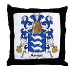 Amiot Family Crest Throw Pillow