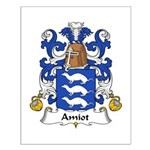 Amiot Family Crest Small Poster