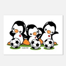 Soccer Penguins Postcards (Package of 8)