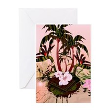 Tropical design Greeting Cards