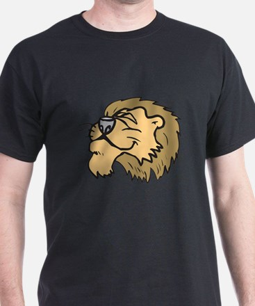 Silly Grinning Lion Head T-Shirt