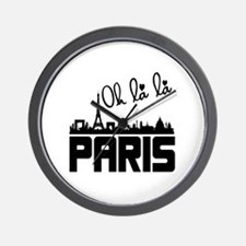 Bonjour Paris France Oh La La Wall Clock