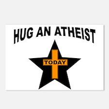 ATHEIST HUGS Postcards (Package of 8)