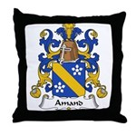 Amand Family Crest Throw Pillow