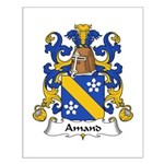 Amand Family Crest Small Poster