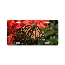 Honeysuckle Monarch Butterf Aluminum License Plate