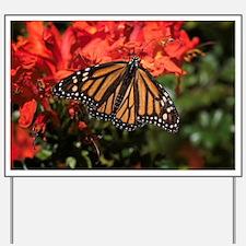 Honeysuckle Monarch Butterfly Beauty Yard Sign