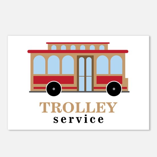 Trolley Service Postcards (Package of 8)