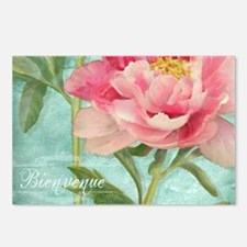 Bienvenue - Peony Garden Postcards (Package of 8)