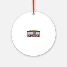 Trolley Ornament (Round)